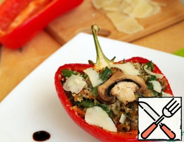 Stuffed Peppers with Quinoa, Vegetables and Mushrooms Recipe