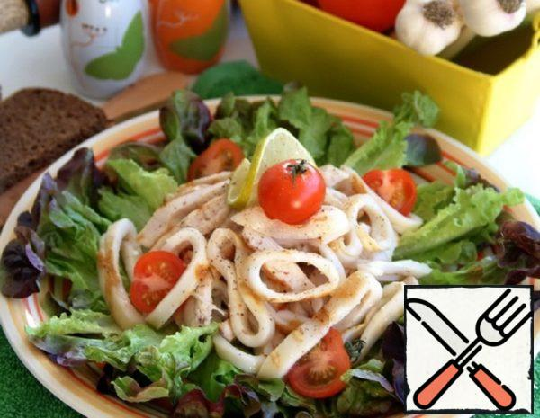 Grilled Chicken Breast and Squid Salad Recipe