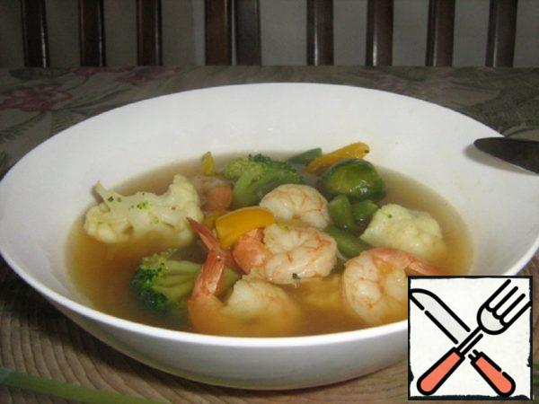 Diet Soup on Seafood Recipe