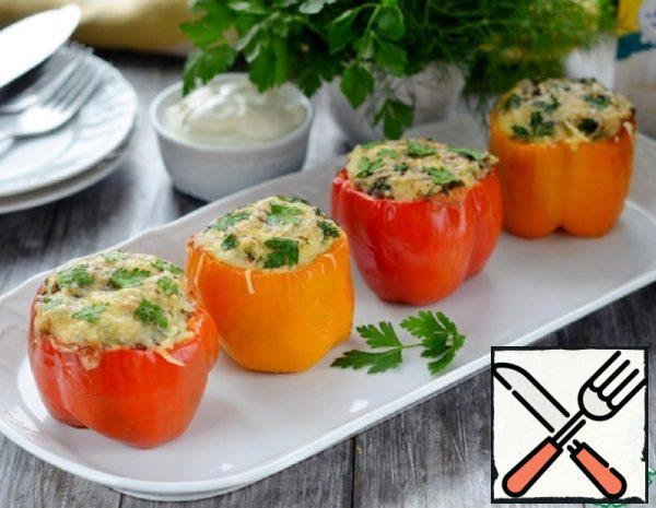 Stuffed Pepper with Rice and Cheese Filling Recipe