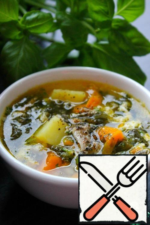 The recipe presents a variant on chicken broth with poultry meat. Can be served with sour cream. Enjoy your meal.