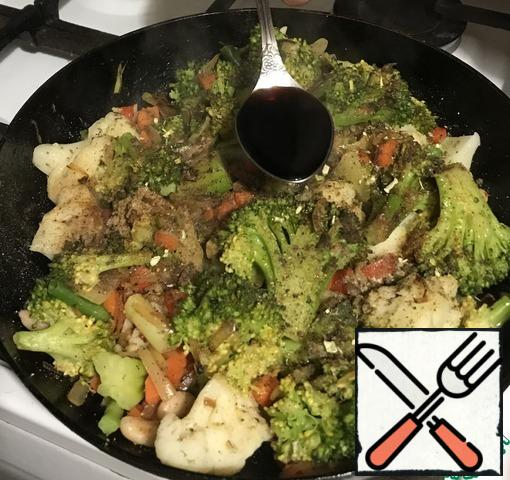 In my version add soy sauce. You can use the broth. Or water. Need literally 2-4 phytosterols (if with sauce, then 50 / 50 with water).