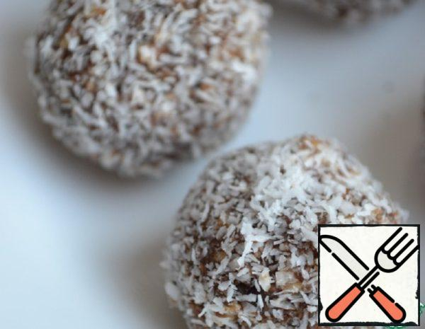 Sweets from Dates with Almonds Recipe