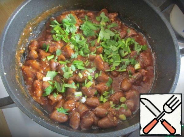Remove from heat and add chopped parsley.