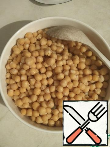 Boil chickpeas in advance.