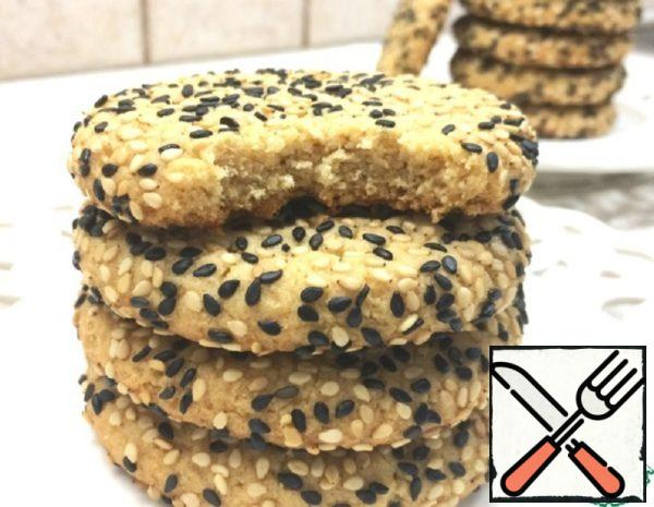 Crumbly Biscuits from Tahini Sesame Paste Recipe