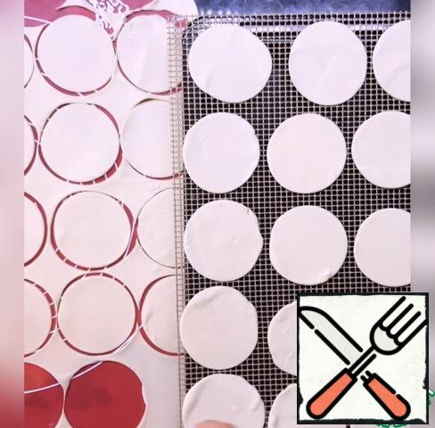 Cut out circles or squares.