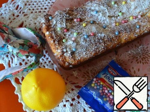 Sprinkle on top sugar powder.