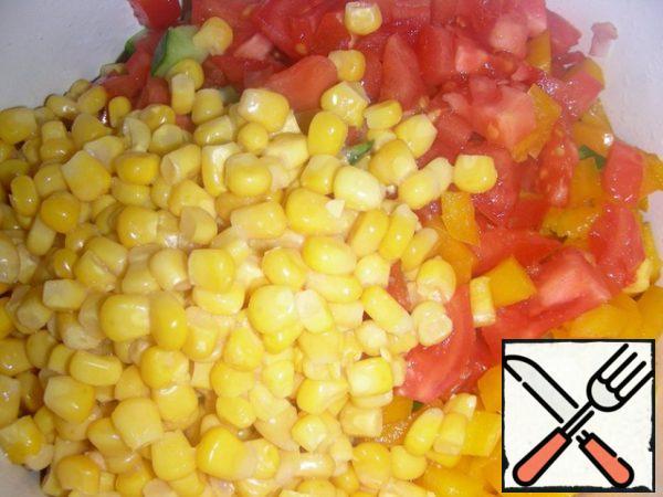 Add a jar of corn without liquid.