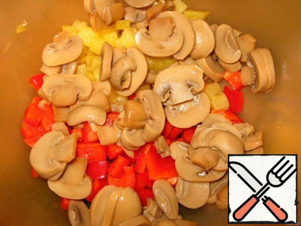 Add chopped mushrooms.