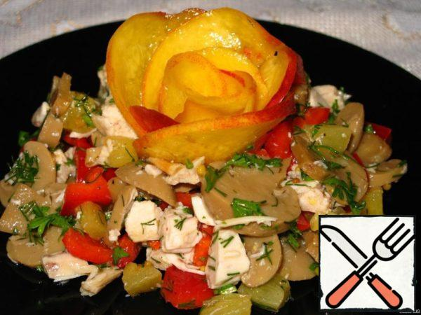 Salad witn Champignons and Chicken Recipe