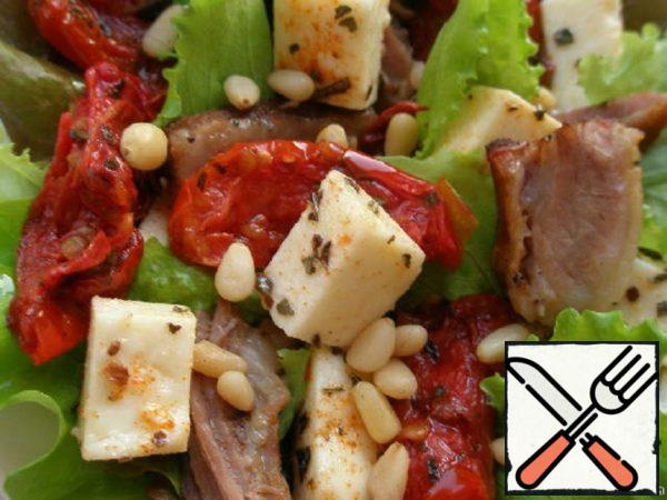 Bright Salad with Pork Recipe