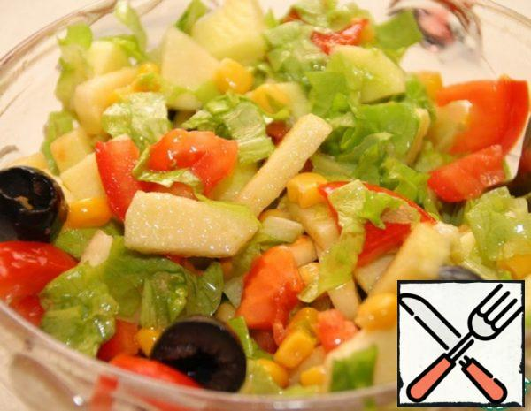 Salad with Corn and Apples Recipe