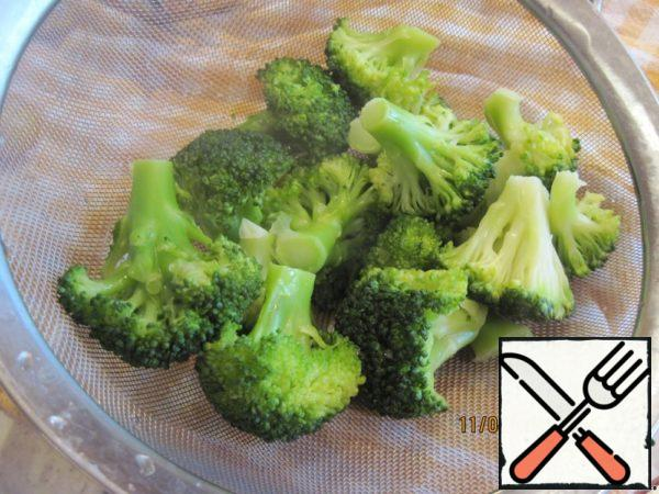 Broccoli, boil or steam until soft, do not overcook!