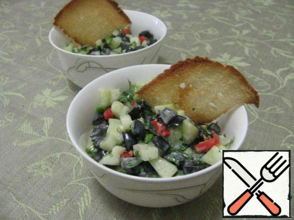 Cucumber Salad with Olives and Chili Recipe
