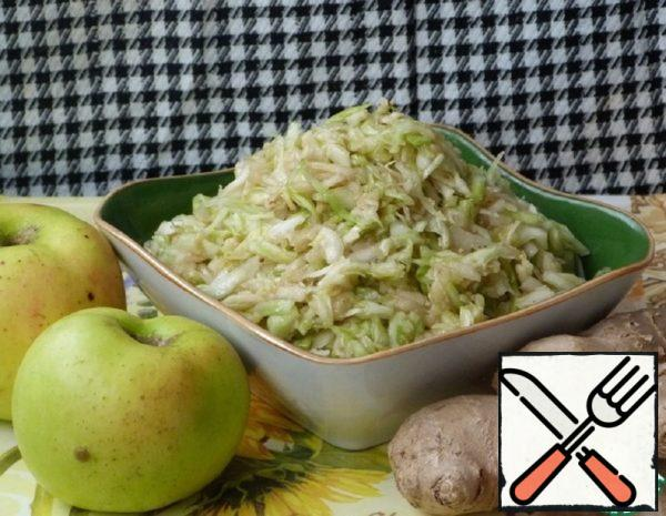 Cabbage Salad with Apple and Ginger Recipe