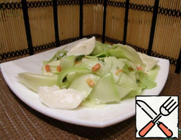 Squash Salad with Chili, Mint and Mozzarella Recipe