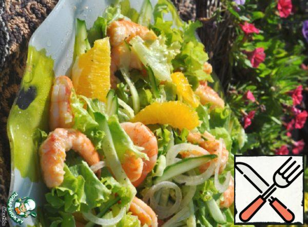 "Salad with Shrimp ""Sunny Mood"" Recipe"