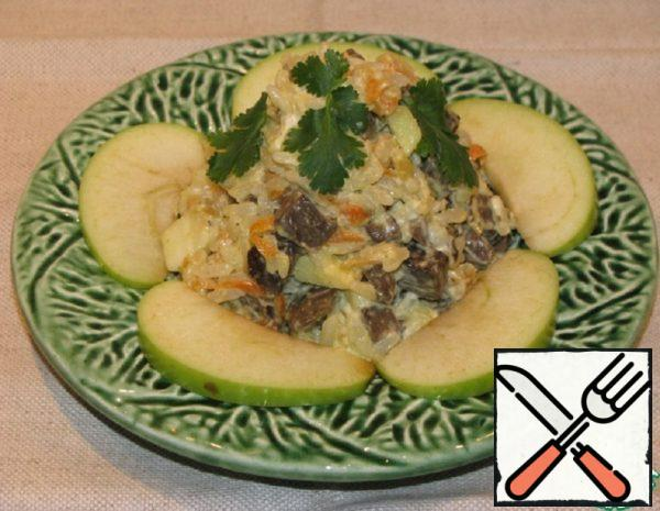 Liver Salad with Rice and Apples Recipe