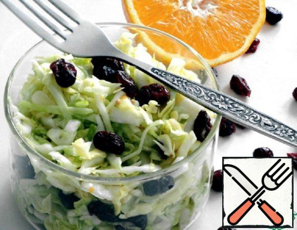 Cabbage Salad with Cranberries Recipe