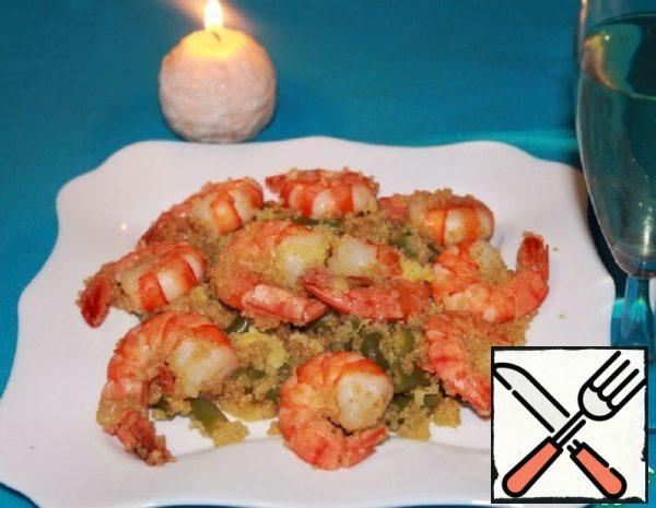 Warm Quinoa salad with Shrimp Recipe