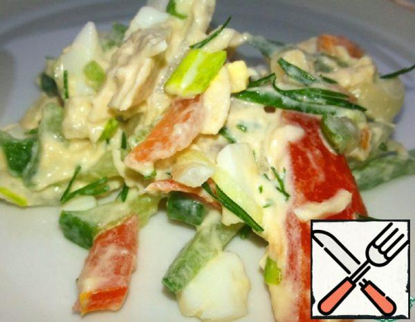 Salad with Chicken and pickled Onion Recipe