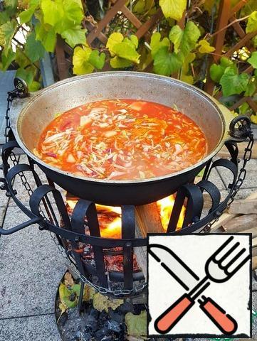 Then add the roast.