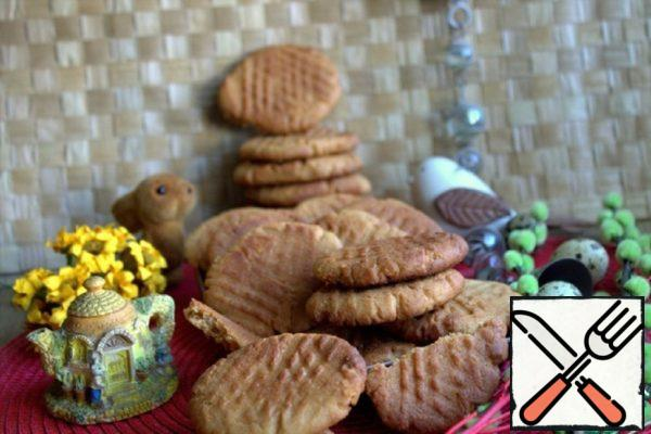 Crumbly Peanut Butter Cookies Recipe