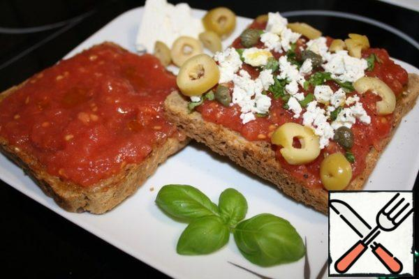These are wonderful sandwiches of Mediterranean cuisine! Bon appetit!