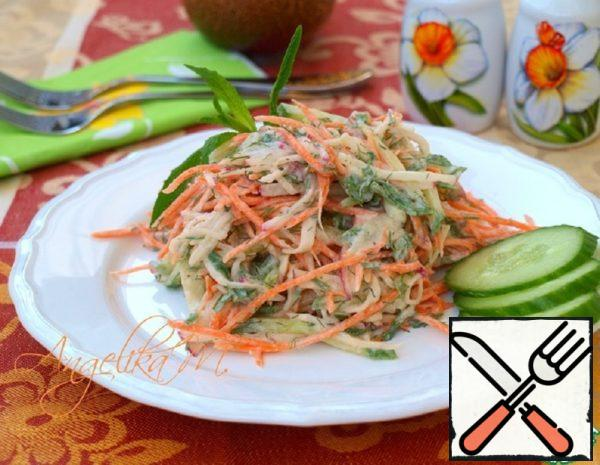 Salad with Carrots, Radish and Cucumber Recipe