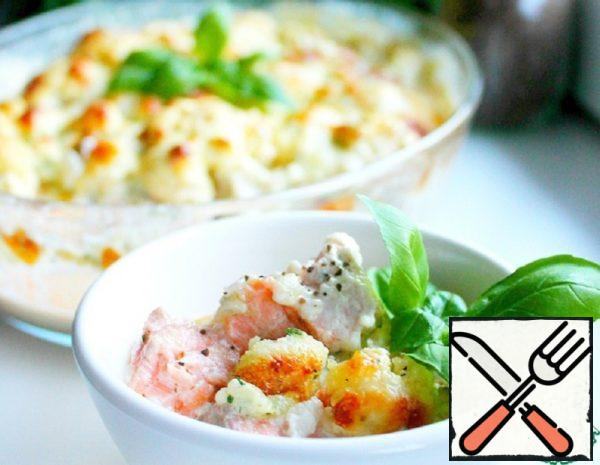 Cauliflower and Red Fish Casserole Recipe