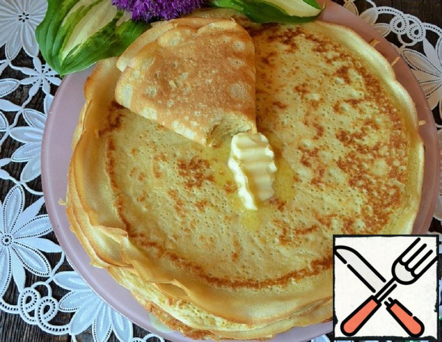 Pancakes On Mineral Water Recipe With Pictures Step By Step Food Recipes Hub