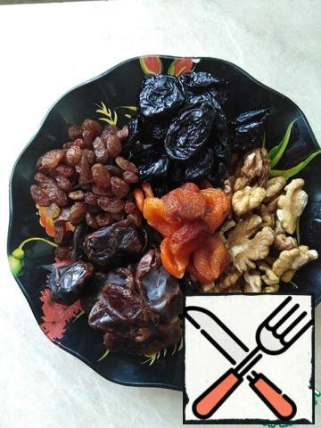 Dried fruits are well washed.