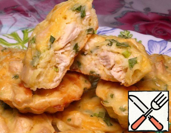 Muffins with Chicken Breast and Cheese Recipe