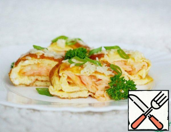 Omelet with Salted Red Fish Recipe