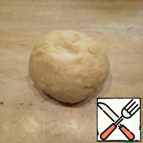 Oil fully mix into the dough, then knead the dough on the table, flour do not add! It will be soft, does not stick to the hands.