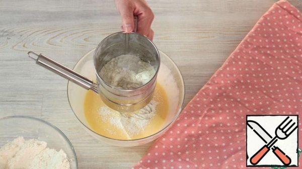 Sift flour and baking powder.