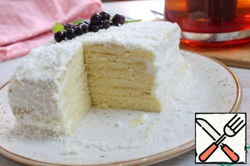 Incredibly delicious milk girl cake is ready! Bon appetit!