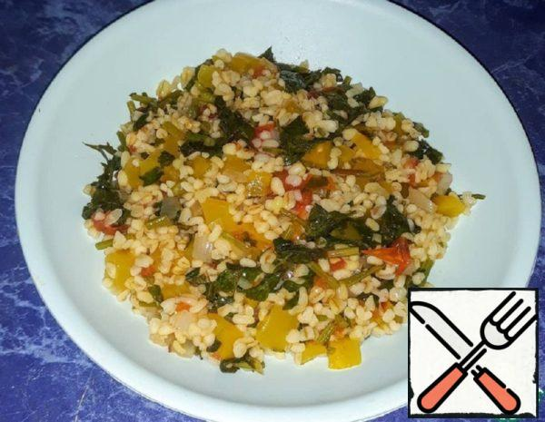 Bulgur with Pepper, Tomatoes, Onions and Herbs Recipe