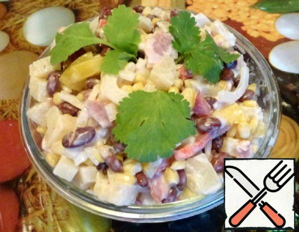 Salad with Bacon and Pineapple Recipe