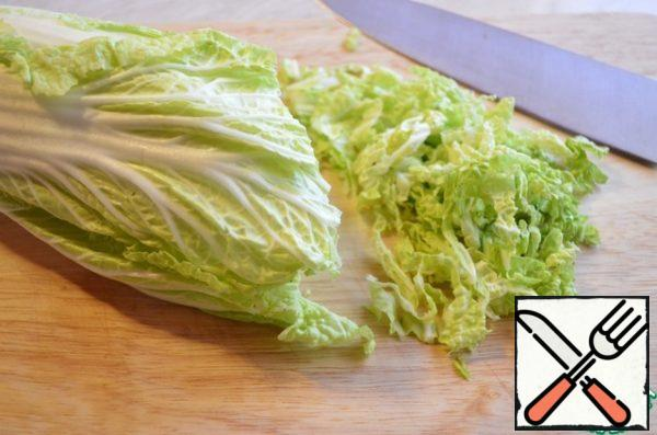 Chop the cabbage.