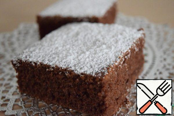 Now cut in any form you, sprinkle with powdered sugar!
