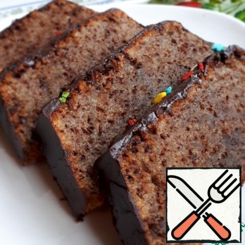 Pour the tea and enjoy the delicious chocolate cake.