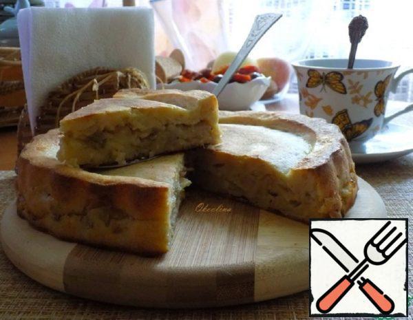 Jellied Sour Cream Pie with Cabbage Recipe