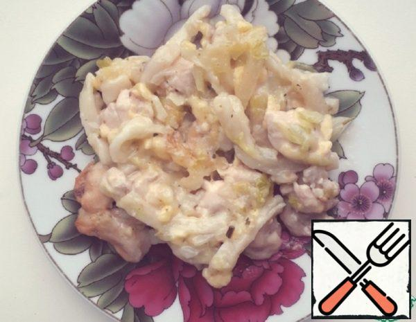 Chicken with Noodles with Sauce Recipe