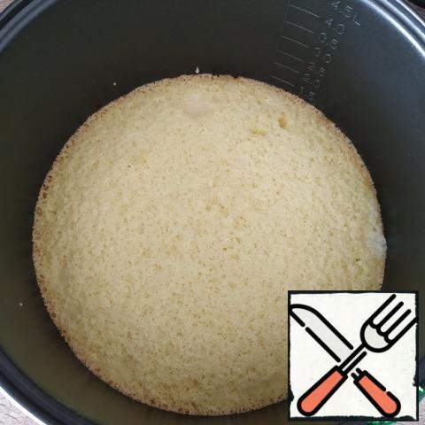 The sponge cake is ready.