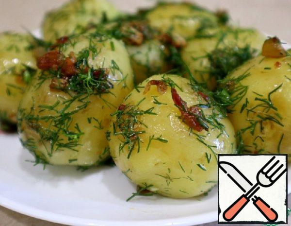 Young Potatoes with Roast and Dill Recipe