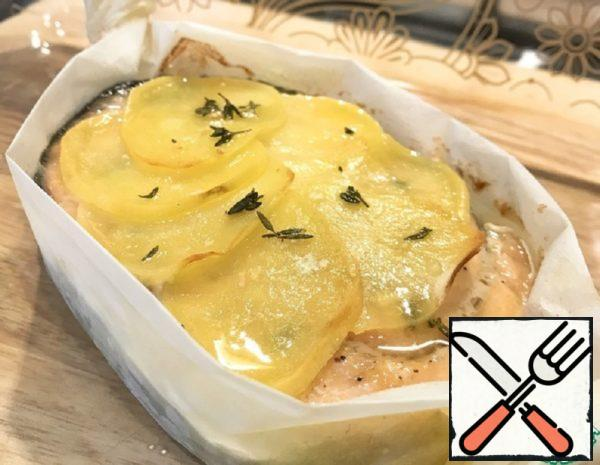 Baked Trout with Potatoes and Thyme Recipe