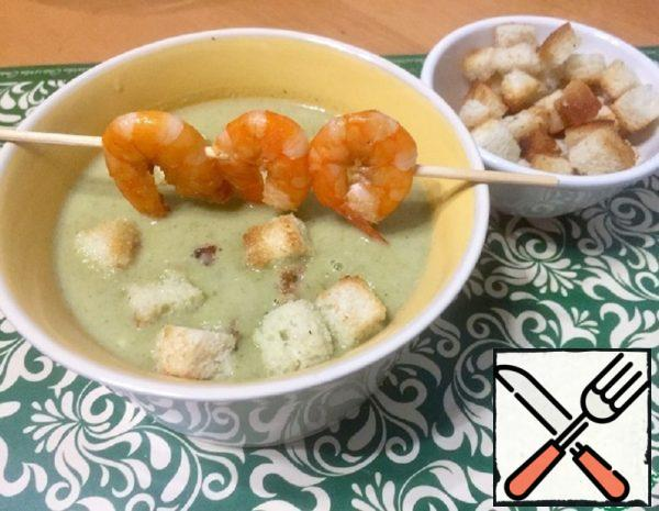 Cream of Broccoli Soup with Shrimp Recipe