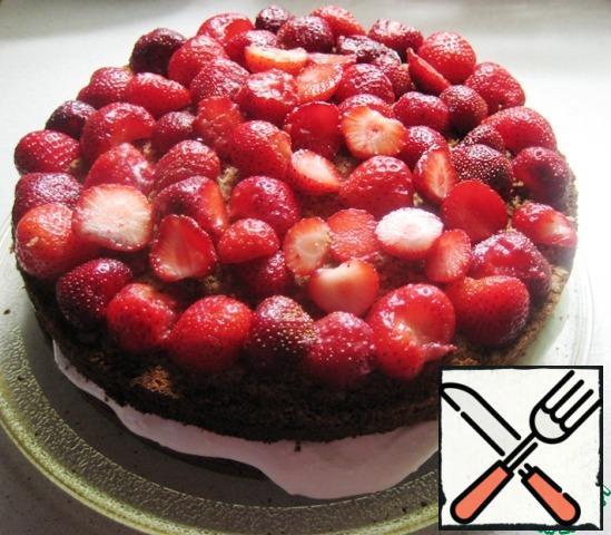 Then walnut cake, again strawberries.